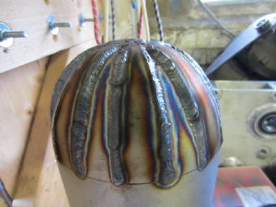 Nuclear Fusor - TIG Welded Vessel Dome - Not quite the result I wanted