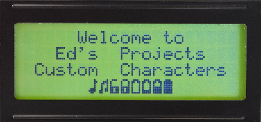 Serial Character LCD - Example of custom characters