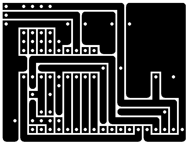 Serial Character LCD - PCB layout design