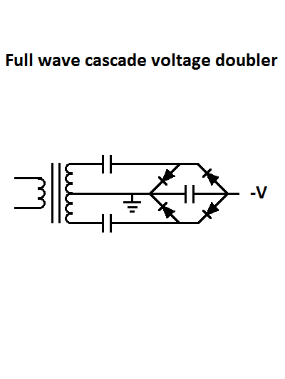 Nuclear Fusor - Power Supply Full Wave Cascade Voltage Doubler