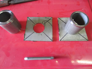 Nuclear Fusor - Electrode Port - Tube to suit Plate