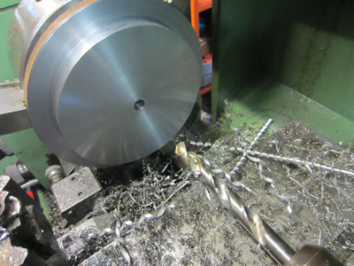 Drilling 200mm steel plate