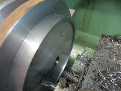 Boring a step to suit rotary table