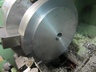 Turning step to suit back of 160mm chuck