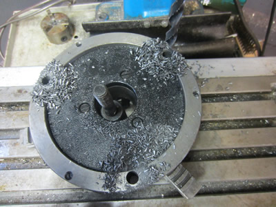 Drilling cast iron 160mm chuck