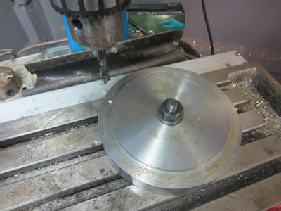 Drilling adapter plate to suit 160mm chuck