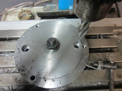 Holes for bolts into rotary table